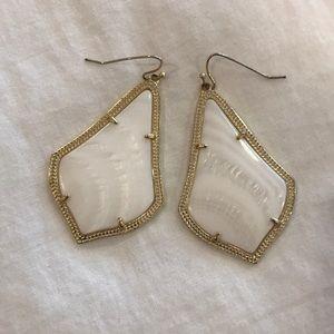 Kendra Scott Alex white mother of pearl earrings